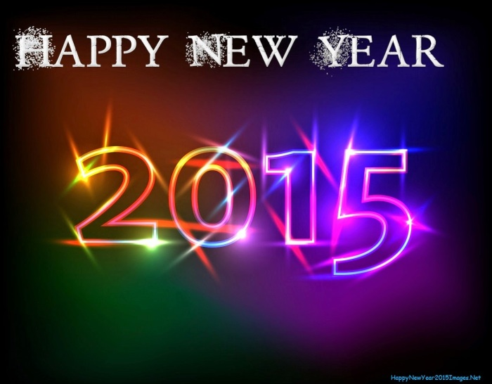 Happy New Year 2015 Hot Colors On Black Backgrounds